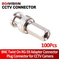 Wholesale Rg 59 Cctv - 100PC Lot CCTV BNC Twist On RG-59 Coax Cable BNC Connector