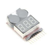 Wholesale lipo buzzer - Original Vistapower 1-8S Digital Display Indicator RC Li-ion Lipo Battery Tester Low Voltage Buzzer Alarm order<$18no track