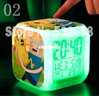 Wholesale Adventure Time Pvc - Adventure Time with Finn and Jake toys Retail &wholesale Colors Alarm Clock Princess Bonnibel Bubblegum action figures toys