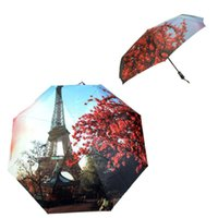 Atacado-Best Deal 2015 Pintura Óleo New Umbrella Big Folding Exquisite clássico Umbrella Anti-uv Sun chuva Durable 1pc Umbrella automática