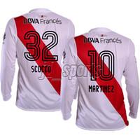 Wholesale River Football - 2017-18 River Plate Long Sleeve Futbol Camisa Martinez Scocco Soccer Jerseys Football Camisetas Shirt Kit Maillot