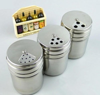 Acero inoxidable Especias Shaker Jar Azúcar Sal Pimienta Hierbas Toothpick Storage Bottle BBQ Spice Storage Bottle