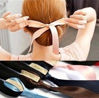 Wholesale Hairbands Magic - 10%off 50pcs Fashion Magic Tools Foam Sponge Device Quick Messy Donut Bun Hairstyle Girl Women Hair Bows Band Accessories Silk Headband