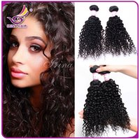 Wholesale Curly Kinky Hair Beautiful - Beautiful 6A afro kinky curly hair for Africa Woman 3 bundles lot Indian Peruvian Brazilian virgin curly hair extensions bohemian curl weave
