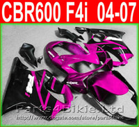 Wholesale cbr fairings for sale - Hot sale for Honda CBR600 F4i fairing kit 2004-2007 pink black CBR 600 F4i 04 05 06 07 fairings injection molding bodywork SOXT