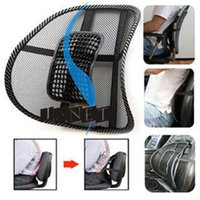Wholesale Back Chair For Car Seat - lumbar cushion massage cool Black mesh lumbar back brace support for office home car seat chair four seasons healthy waist pad