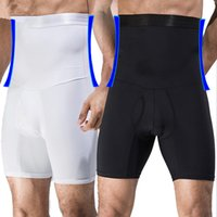 cinturón de corsé de estómago al por mayor-Hombres entrenador de cintura alta Big Belly Control bragas boyshort Tummy Trimmer Corset Hold Estómago Body Shaper Cinturones calzoncillos Ropa interior de adelgazamiento