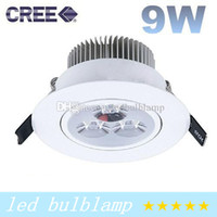 Wholesale CREE Dimmable W X3W Led Recessed Downlights White Ring CRI gt Warm Natural Cool White Led Ceiling Light V Drivers CE ROHS SAA UL