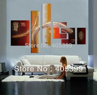 Wholesale Oil Paint Canvas Handmade - Bright Color 6pcs Oversized Speical Design!! 100% Real Handmade Modern Abstract Oil Painting On Canvas Wall Art JYJZ125