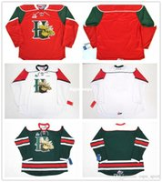 Pr Rojo Baratos-Personalizar Personalizar QMJHL Halifax Mooseheads 2012-Pres Mens Womens Kids Hockey Cheap Jerseys Goalit Cut Custom Cualquier nombre NO. Blanco Verde Rojo Jer