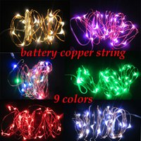 Atacado- Frete grátis 3AAA Bateria Alimentado 3M 30Led Copper Wire Mini Fairy String Light Lamp Para Natal Holiday Wedding Party