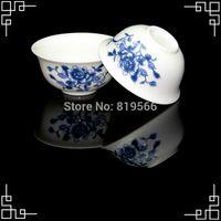 Wholesale Chinese Porcelain Tea Cups Wholesale - Wholesale-30ml Peony Flower Painting Fine Bone China Tea Cup Chinese Dehua Porcelain Tea Set Service Ceramic Drinkware