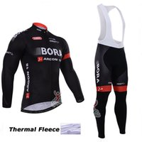Wholesale Gel Padded Long Cycling Pants - Wholesale-2015 Bora Argon Winter Thermal Fleece Pro Cycling Jersey long set MTB GEL Pad Bib long pants Bike Bicycle Clothes ropa ciclismo