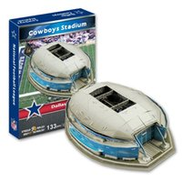 Wholesale Dallas Texas - 3D Puzzle Stadium Model American football National Football League Dallas Cowboys Home Texas Stadium Paper Model Toys Decoration