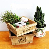 Wholesale Cool Wood Carvings - 2016 Cool Vogue Wooden Storage Box Wood Logs Flower Pot Miscellaneously Sundries Tool free ship 1561