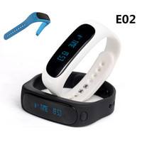 Wholesale Bluetooth Bracelet Caller Id - E02 Sport bluetooth bracelet smart watch healthy Silicone Wristband Time Caller ID alarm Pedometer Sleep Monitor for IOS Android