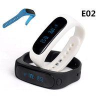 Wholesale Silicone Bracelet Id - E02 Sport bluetooth bracelet smart watch healthy Silicone Wristband Time Caller ID alarm Pedometer Sleep Monitor for IOS Android