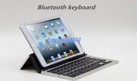 Wholesale Ipad Mini Keyboard Aluminium - Bluetooth Keyboard Slim Streamline Wireless Keyboard Portable Aluminium Foldable Mini Keyboard Bluetooth Keyboard for ipad Tablets cellphone