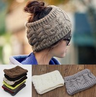 Wholesale Cloche Crochet Wholesale - street fashion women's adults lady crochet winter autumn empty wool hats womens wool caps wide headbands children's hats ear neck warmer