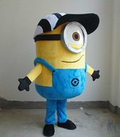 Wholesale Minion Customs - Freeshiping Brandnew despicable me minion mascot costume for adults