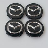 accessoires cx achat en gros de-Car Styling 56MM Mazda Capuchon de roue autocollant de décalcomanie pour MAZDA 2 3 5 6 6 CX-5 CX-7 CX-9 RX8 Casquettes de centre Accessoires automatiques