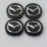 accesorios cx al por mayor-Car Styling 56MM Mazda Wheel Hub Cap Decal Sticker para MAZDA 2 3 5 6 CX-5 CX-7 CX-9 RX8 Center Caps Auto Accesorios