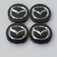 cubo da roda mazda venda por atacado-Estilo do carro 56 MM Mazda Cubo Da Roda Tampa Do Decalque Adesivo para MAZDA 2 3 5 6 CX-5 CX-7 CX-9 RX8 Centro Caps Auto Acessórios