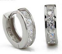ingrosso borchie in diamanti svizzeri-3ct Swiss Diamond Earrings New Jewelry Orecchini in argento sterling 925 Orecchini a cerchio in argento Orecchini a perno in argento per la festa di nozze