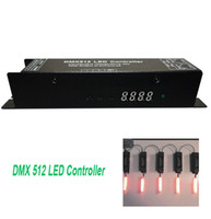 Wholesale-Professional RGB LED Strip Light Lamp Dimmer Controller DC 12V-24V 3 canais DMX 512 LED Controller