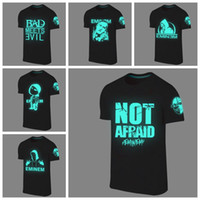 Wholesale Fluorescent T Shirts - Wholesale- Summer men tshirts camisetas fashion eminem t shirt tee tops fluorescent shirt design casual Hip hop t-shirt