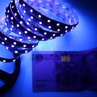 uv streifen führte wasserdicht großhandel-UV Lila Led Streifen Licht 5050 SMD 60led / m DC 12V nicht wasserdicht 395-405nm Ultraviolet Ray flexibles Streifenband Band