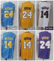 LAL 2018 New Basketball Jersey Uomo Donna Gioventù, Signature Retro Kids, 24 Kobe Bryant 14 Brandon Ingram, USA Team All Star Stitched KB BI
