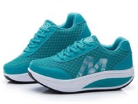 Wholesale Womens Casual Walking Shoes - Womens Casual Mesh Shape-Ups Slip On Lace Up Walking Sport Shoes Sneakers Y52