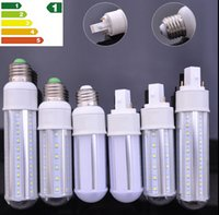 Wholesale G24 11w - Super bright New Design LED Corn Light 7W 9W 11W 13W E27 G24 Led Opal Bulbs Lamp 360 Degree AC 110-240V