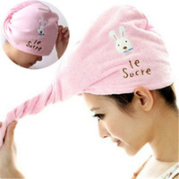 Wholesale Children Hair Dryer Towel Cap - Hot Cute cartoon absorbent towels Creative household products dry hair cap superstrong dry hair towel IA981