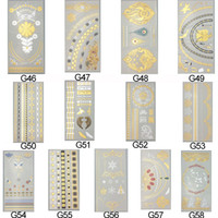 any festival painting sheet metal - DHL EMS Freeship Sheet Colorful Waterproof Style Body Art Painting Tattoo Sticker Glitter Metal Gold Silver Temporary Flash tattoo