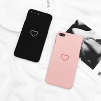 Caso de telefone Lovebay para iPhone 8 7 6 6s Plus Casal de moda Graffiti Love Heart Ultra rígido Casos de capa para PC para iPhone 8