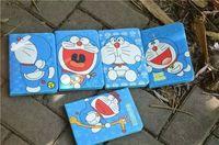 housses pour ipad mini cuir bleu achat en gros de-25PCS / LOT Bleu Pour ipad 2 5 air 6 air2 Couper la couverture en cuir de chat de dessin animé doraemon pour ipad mini 3 tpu Stand cas