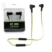 Wholesale headphones electronics - BT-H06 EBluetooth Headphones Electronic Wireless Mini Stereo Sport Earphone In-ear Earbud with Microphone for IPhone 6 6S  LG Samsung htc