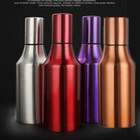 Wholesale Cooking tools ml stainless steel leak proof oiler spice jar soy sauce bottle oil can pot creative cruet vinegar red purple brown