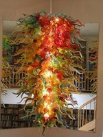 Wholesale Led Lights G9 Price - Longree Coffee Light Murano Glass Golden Red Stained Ceiling Pendant Wholesale Cheap Price Big Size Pretty Chihuly Chandelier
