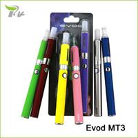 Wholesale Itaste 134 Vaporizer - Electronic cigarette evod MT3 ecigarette 1100mAH ego battery vape vaporizer pen e cigarette e-cig starter kit blister pack TZ055