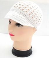 Wholesale Kids Hand Made Hats - children Baby Crochet knit beanies hats lovely hand made fashion newborn infant kids caps