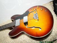 Wholesale guitar 335 sunburst - Honey Burst Bass Guitars 4 Strings 335 Electric Bass High Quality China Guitars