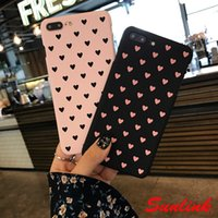 Wholesale lovely sweet heart - cute cellphone case Japanese and Korean style lovely sweet heart cute comfortable pc case for iPhone X 8 8P 7 7P 6 6P