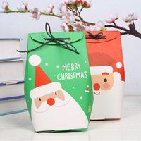 Christmas Candy Boxes Papai Noel Party Gift Favors Paper DIY Package Bag Supplies 18 * 8.5 * 7.5cm ZA5294