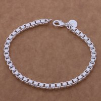 Wholesale track tracking number - with tracking number Top Sale Silver Bracelet Box earners chain Bracelet Silver Jewelry cheap