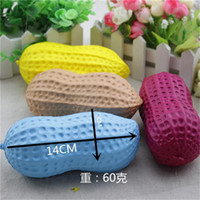 Wholesale Peanut Charms - Squishy Peanut 14cm Mixed Slow Rising Toy Relieve Stress Cake Sweet Kawaii Food PU Cell Phone Strap Phone Pendant Key Chain Toy Gift