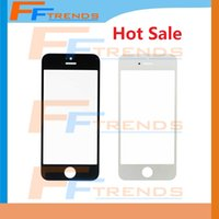 Wholesale Iphone 4s Front Panel Glass - Front Outer Glass LCD Screen Replacement Lens Repair Part Touch Screen for iPhone 5 5C 5S 4 4S Black White Free Ship Hot Selling