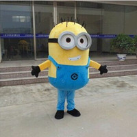 Wholesale Despicable Costumes - 2015 Brand New Custom Despicable me minion mascot costume made Despicable Me 2 cartoon mascot costumes thief dads yellow people